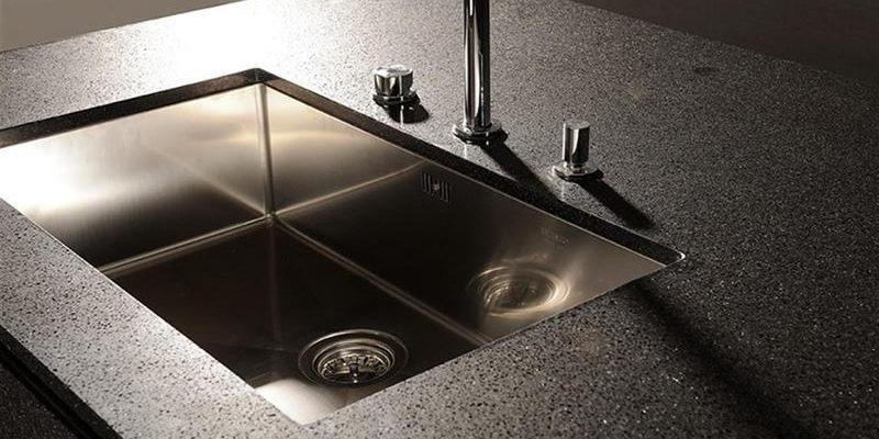 marble worktop sink